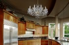 Crystal chandelier for the kitchen
