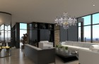 Living Room  Cut Glass Crystal Chandelier L037CE