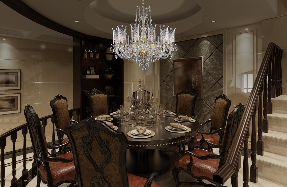 Dining Room Chandelier LLCH12Crystal-DT