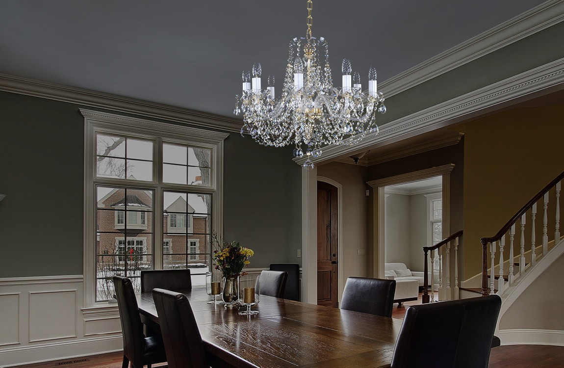 Dining table crystal chandelier L043