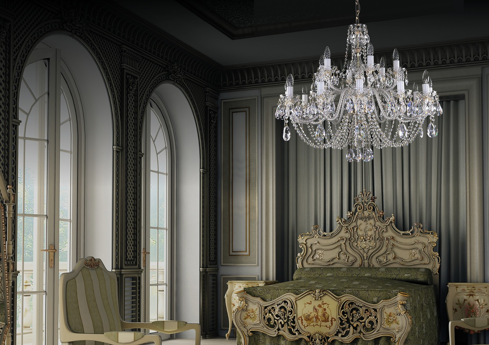 Crystal chandelier bedroom lighting L134