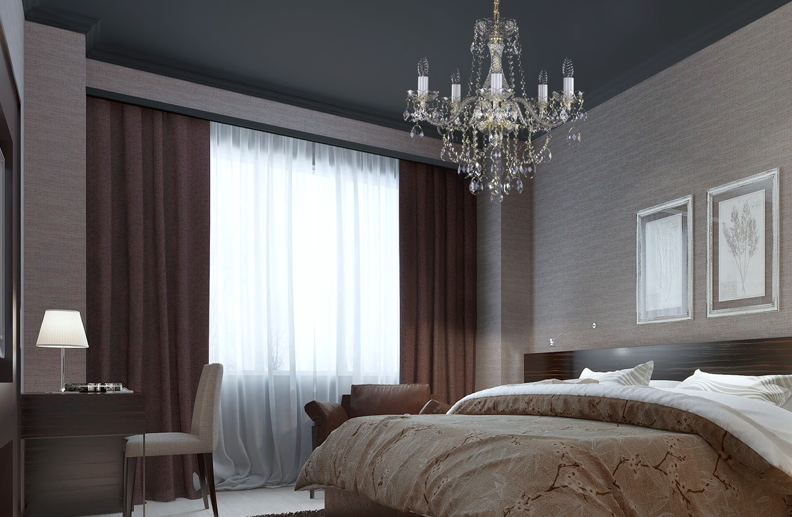 Crystal chandelier bedroom lighting L097