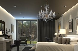 Crystal chandelier into the tradinional and modern interior
