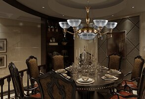 Chandelier cast fittings in the dining room