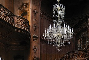 Large chandelier in classic house