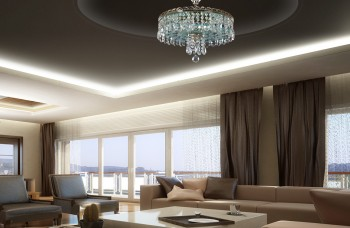 Ceiling lighting fixtures in the living room
