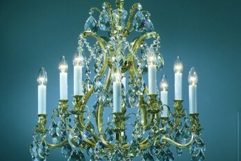 Preciosa Brass Chandeliers | Free transport in the EU | ARTCRYSTAL.CZ