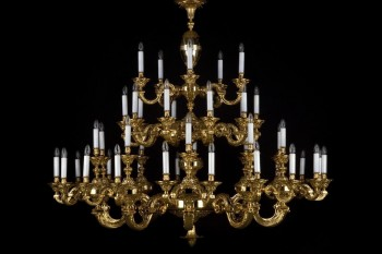 Large Brass Chandeliers | Free transport in the EU | ARTCRYSTAL.CZ
