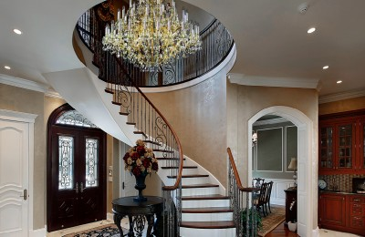 Staircase crystal chandelier L403