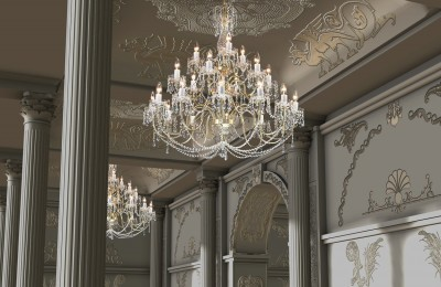 Large hallway chandeliers TX224000021
