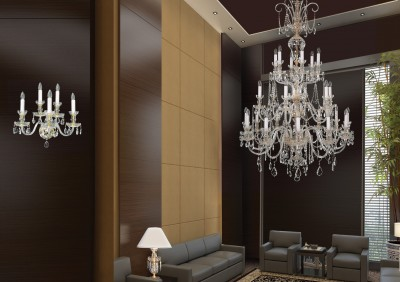 Long chandelier for staircase EL6702401