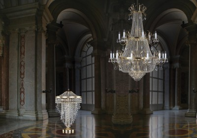 Chandeliers in the hall of the house L192