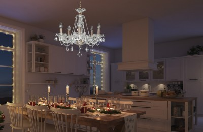 Small crystal chandelier for kitchen EL415502