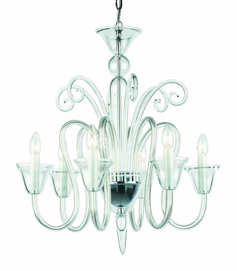 Clear Glass Chandelier PI026