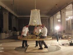 Photogallery - installation of chandeliers at customers