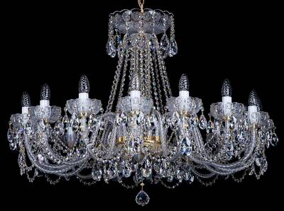 Cut crystal chandelier L033CE