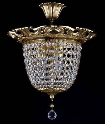 Chandelier with strass trimmings L377CE