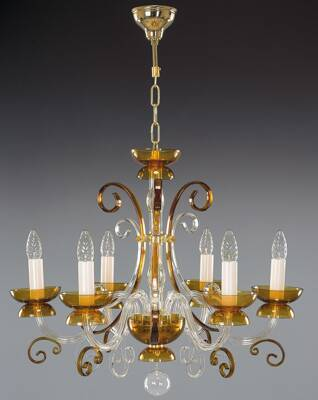 Glass chandelier EL414600 topas