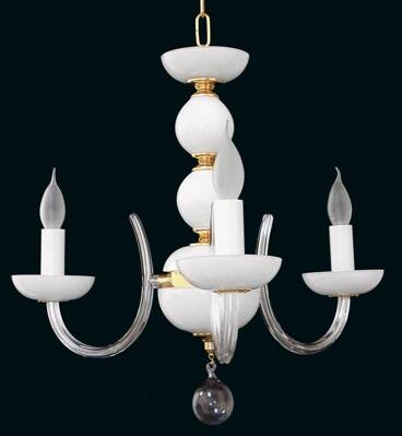 Glass chandelier EL422300 opal