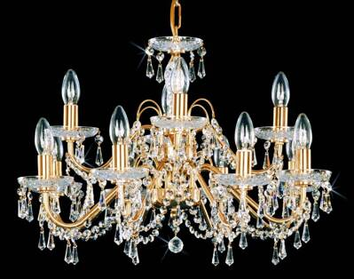 Chandelier with metal arms PS174-PO