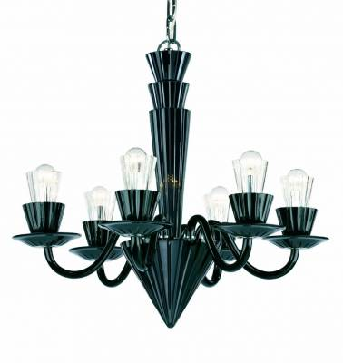 Modern chandelier Preciosa Humprecht 6 Black - PO