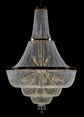 Big chandelier with strass trimmings L202CE