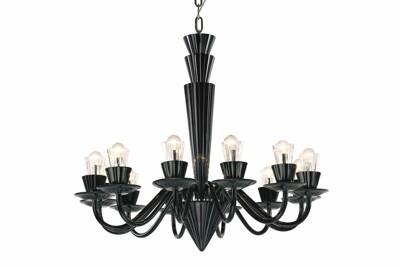 Chandelier glass Preciosa Humprecht 12 Black