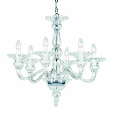 Clear Glass Chandelier Preciosa Odetta 6