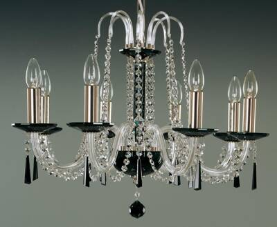 Glass chandelier black EL210803Black