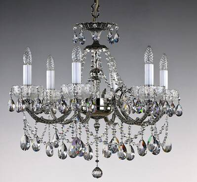Brass cut crystal chandelier L307CENi 8006