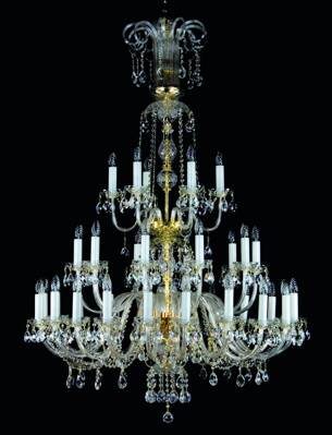 Big crystal chandelier L09001CE