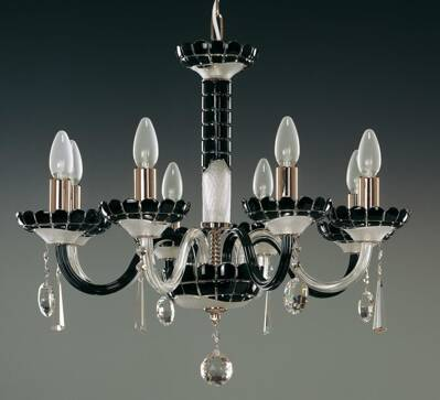 Glass chandelier EL613818