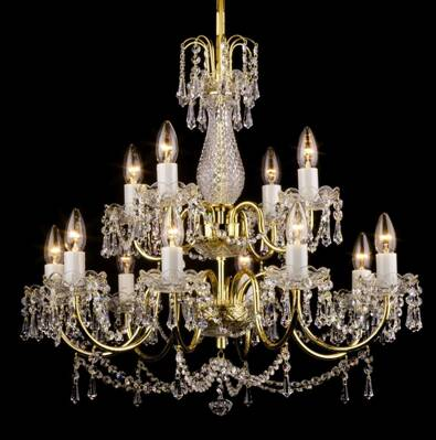 Chandelier with brass arms PAB059001012