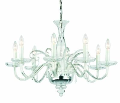 Clear Glass Chandelier Amadeus 8