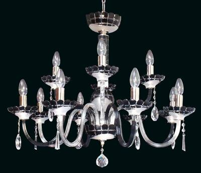 Glass chandelier EL6138+418