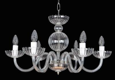 Clear Glass Chandelier EL251600