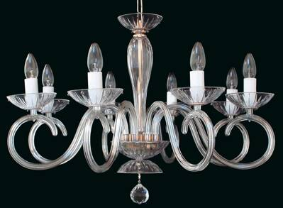 Clear Glass Chandelier EL2248024