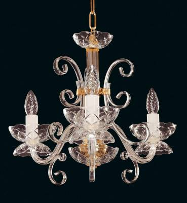 Glass chandelier EL412300