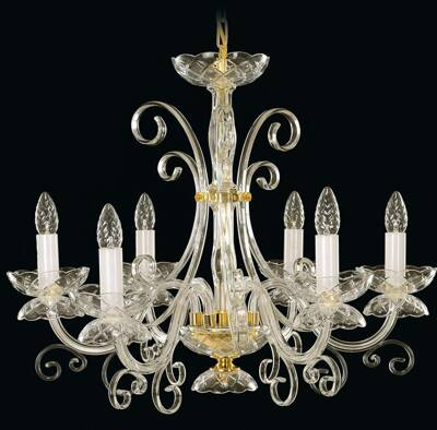 Glass chandelier EL412600