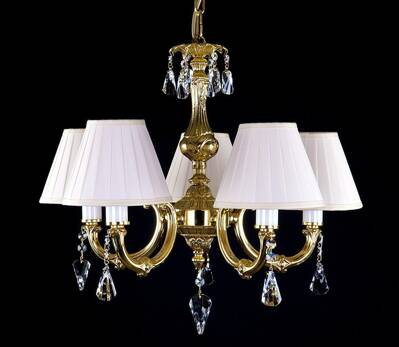 Brass chandelier with Shades L326CE