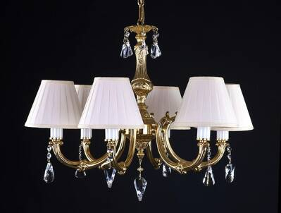 Brass chandelier with Shades L321CE