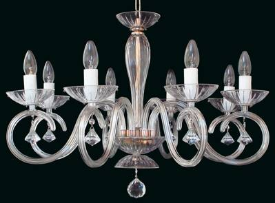 Clear Glass Chandelier EL2248023