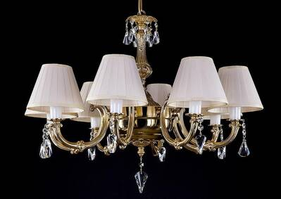 Brass chandelier with Shades L318CE