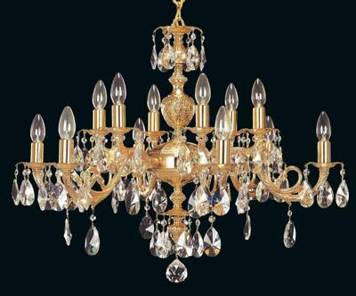 Brass chandelier EL8551202