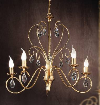 Retro chandelier OLU16585 gold