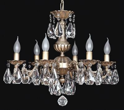 Brass chandelier EL860609PT