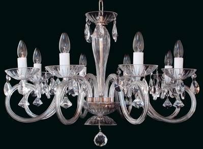 Clear Glass Chandelier EL2248022