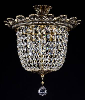 Chandelier with strass trimmings L378CE