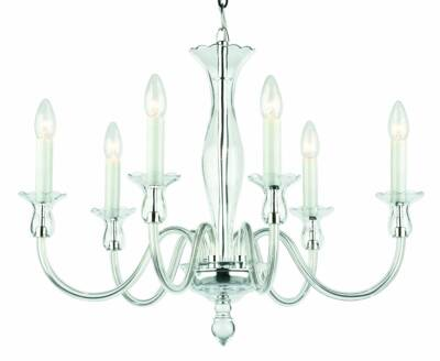 Clear Glass Chandelier Amelie 6