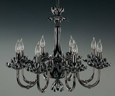 Glass chandelier black EL605818 ant